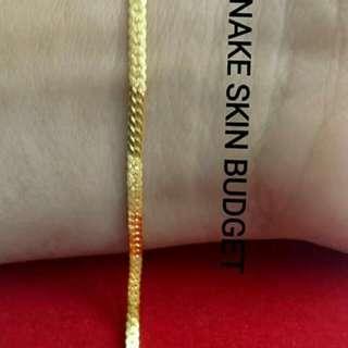 Gelang tangan emas 916 tulen bajet