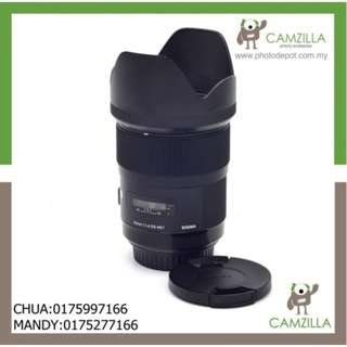 USED SIGMA ART LENS 35mm 1:1.4 DG