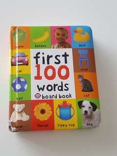 First 100 words baby book