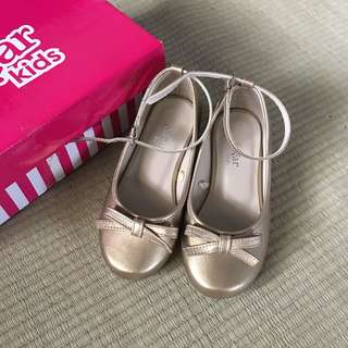 Gold  doll shoe