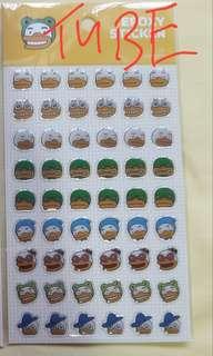 TUBE Kakao Epoxy stickers for phone, book etc