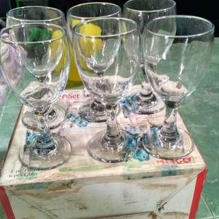 gelas crystal 1/2 lusin
