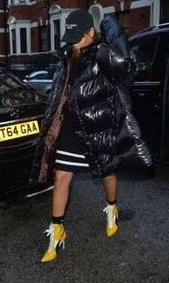 FENTY YELLOW/BLACK Leather heels