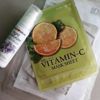 Bundle: Vitamin C Mask Sheet BARONESS + Night Moisturizer HUMAN NATURE