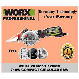 Worx 120mm 710w Compact Circular Saw WU427.1