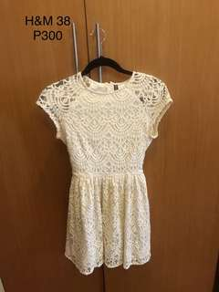 H&M White Lace Cocktail Dress