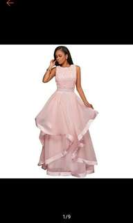 Pre-Order Long Lace Evening Formal Party Gown Bridesmaid Dress