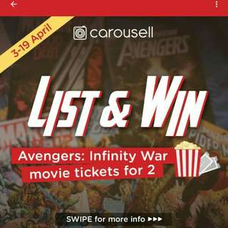 LIST & WIN! Avengers: Infinity War, movie for two!