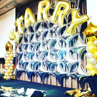 Stage backdrops balloon decoration for event