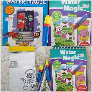 Water magic colouring books