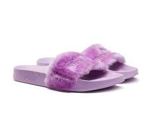 Fenty puma fur slides