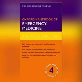 Oxford Handbook of Emergency Medicine Fourth edition Ebook [ E-BOOK ]