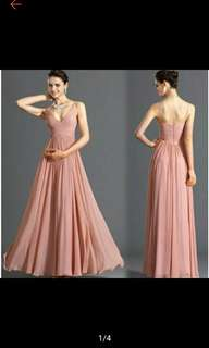 Pre-Order J-cube Women Bridesmaid Evening Gown Formal Dress