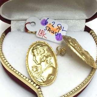 18k gold eraings for her ♥