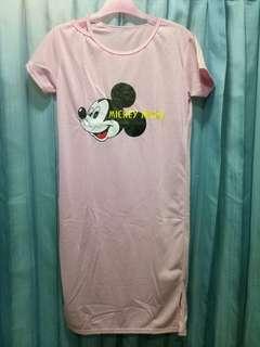 Mickey dress pink daster