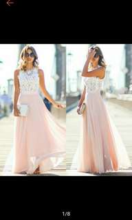 Pre-Order Women Sexy Summer Lace MAxi Long Dress
