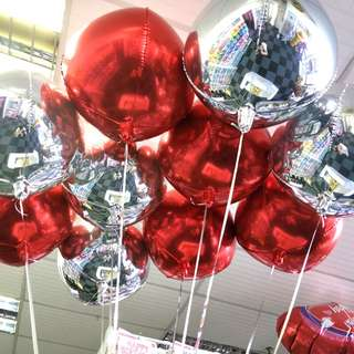 Helium foil balloons