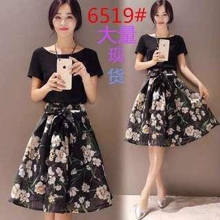 Black  floral modi dress