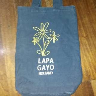 Lapagayo denim shoppers tote bag