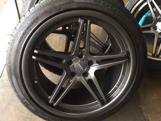 "Used 19"" concave rims and tyres"