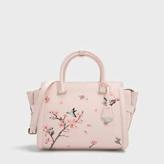 *Reduced price* Charles & Keith Full Bloom Large structured bag in Pink (Large size)