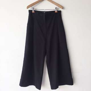 H&M black Japanese style long culottes