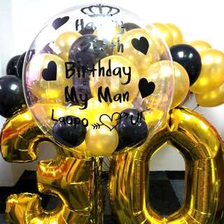 Birthday balloon package