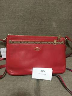 Coach Red Sling Bag (Authentic)