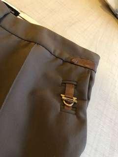 Massimo Dutti Olive Pleated Pants