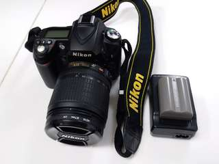 Nikon D90 kit len 18-105 with battery n charger ,9成新,好少用
