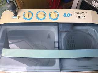 American Home Twin Tub Washer LATIS series (AWT-8000LSB 8.0 Kg)