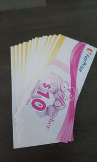 NTUC Vouchers 15 pieces of $10