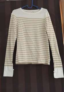 Eetome stripes knitted top