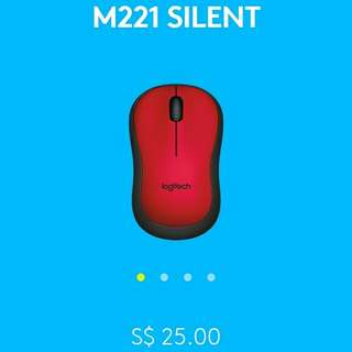 (30% OFF) Logitech M221 SILENT Wireless Mouse with FREE AA battery