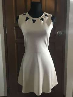 Dress with cut-out details