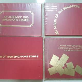 1986 1987 1988 1989 album of singapore stamps