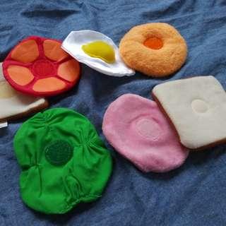(包郵)玩具食物三文治 可組合 購自日本