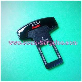 Universal Car Safety Belt Buckle Key Clasp Clip With 3D 4 Rings Audi Logo & Wordings A3 A4 A5 A6 A7 A8 Q2 Q3 Q5 Q7 S3 S4 S5 S8