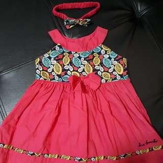 Kaboosh Pink Dress with matching turban
