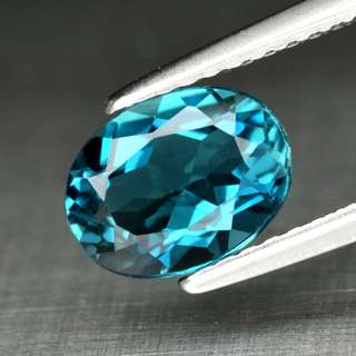 1.59ct Oval Natural London Blue Topaz