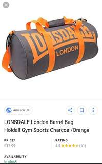 Lonsdale Duffle Gym Bag Bnew