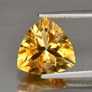 2.66ct Trillion Natural Golden Yellow Citrine