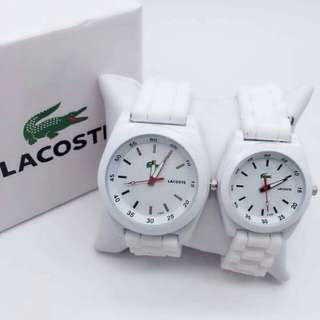 Lacoste Couple Watch (Free ordinary box)