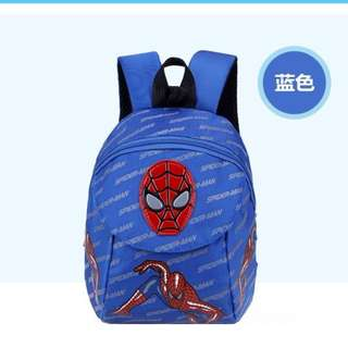 BLUE Cartoon Spiderman Anti Lost Safety Harness Backpack