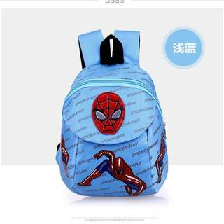 LIGHT BLUE Cartoon Spiderman Anti Lost Safety Harness Backpack