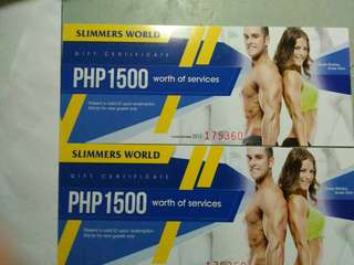 Slimmers World gift Cert.