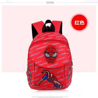 RED Cartoon Spiderman Anti Lost Safety Harness Backpack