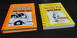 Set of 2 Diary of a Wimpy Kid books