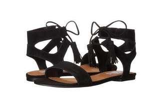Steve Madden Black Suede Sandals