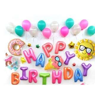 (In Stock) Party Decoration Set-Happy Birthday